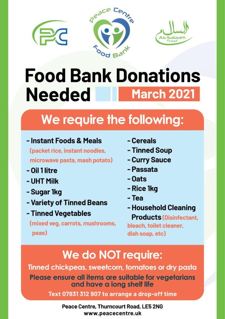 foodbank needed mar 21