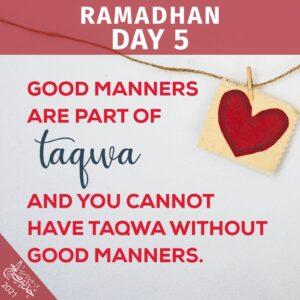 Ramadhan 2021 - day 5