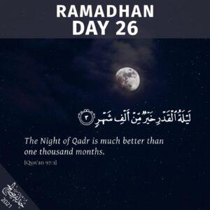 Ramadhaan 2021 - Day 26