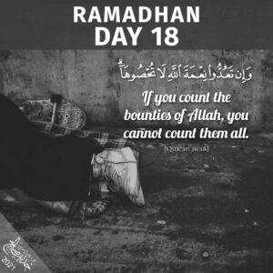 Ramadhaan 2021 day 18